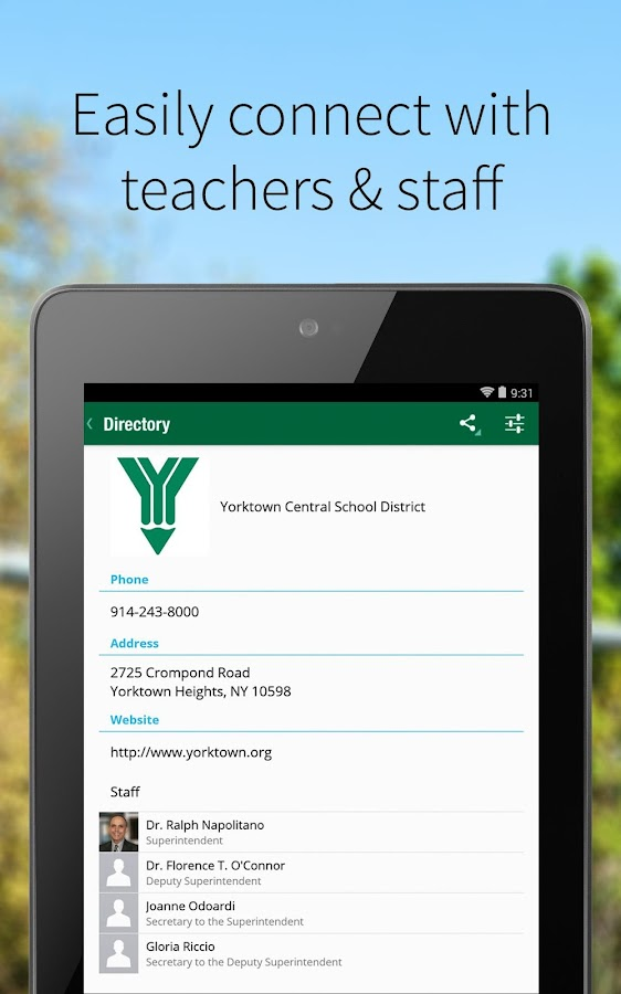 Yorktown Central Schools- screenshot