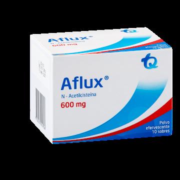 AFLUX 600mg Granulado   Efervescente x10Sob TQ N-Acetilcisteína