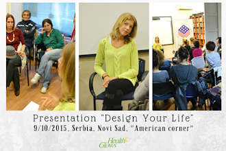 "Photo: It was such a pleasure to give one of my favorite presentations again: Design Your Life. This time in my home town of Novi Sad, in Serbia. Many thanks to ""American Corner"" for hosting us.   I really enjoyed this event and I hope that all of my guests were satisfied and got a lot value from this talk. I am so much grateful to everyone who attended.   I even made a whole video series on this topic and you can watch it at: https://www.youtube.com/watch?v=P2vf7EZaAWw&list=PLZE09kOCQbQ3m_EWvy0Mg35JTvp8vWnDW   I hope you will also attend my ""Design Your Life"" presentation some day... If you were at the Danish fruit festival this summer, than you might have already been at my ""Design Your Life"" presentation.  Love, Marina"