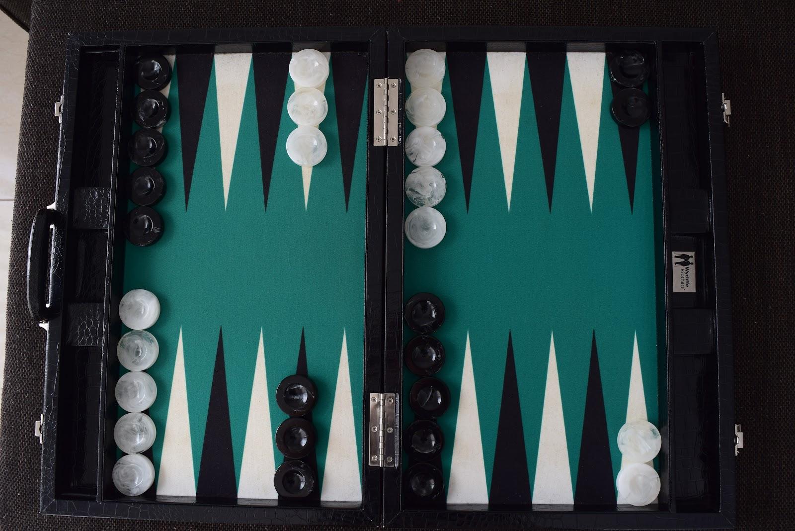 backgammon board setup