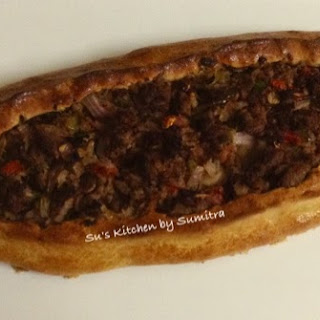 Kiymali Pide (Turkish Flat Breads with Ground Meat and Vegetables).... Recipe