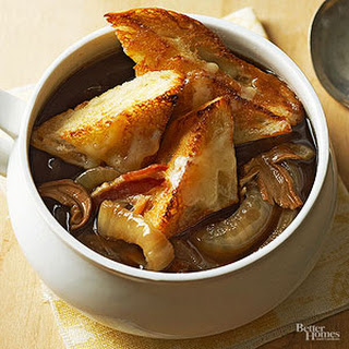 Sweet Onion Soup with Porcini Mushrooms