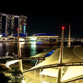Marina Waterfront by Samson Calma - Landscapes Starscapes ( mbc, marina, waterfront, marina bay, esplanade )