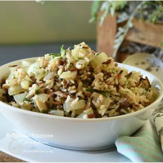 Easy Mushroom Rice Pilaf.