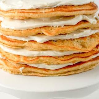 Pancake Cake w/Maple Cream Frosting