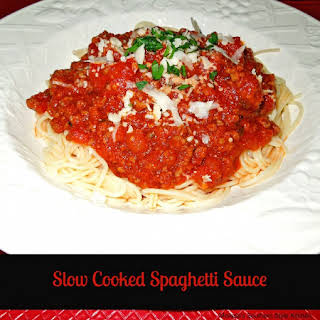 Slow Cooked Spaghetti Sauce.