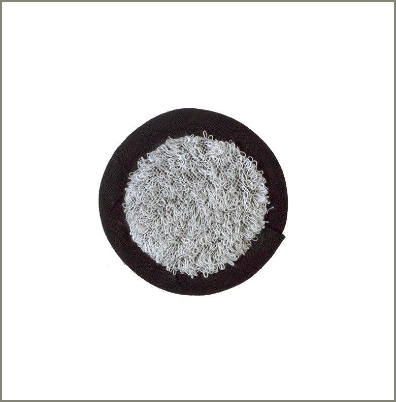 Pad Linnefrotté vit-svart 9 cm