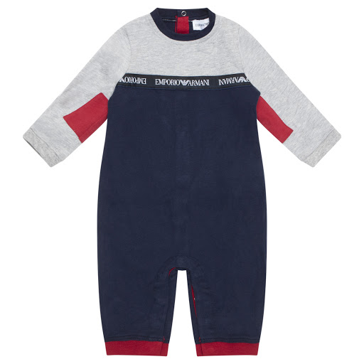 Primary image of Emporio Armani Boys Cotton Babygrow