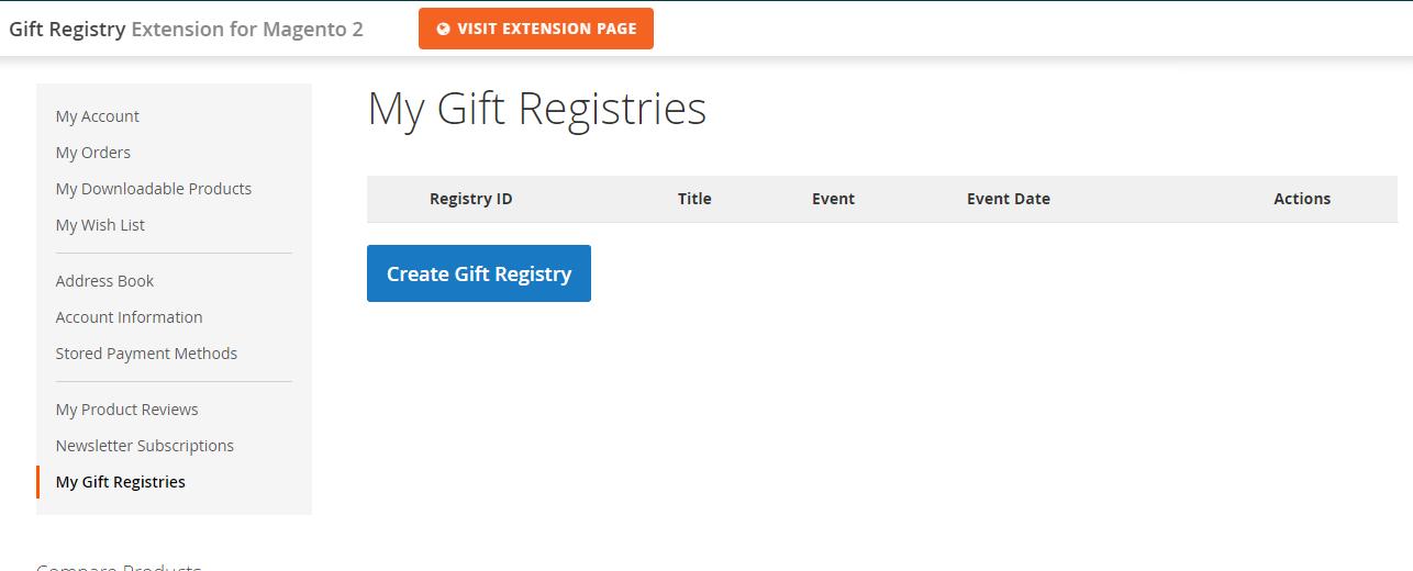 Magento plugin development services gift registry