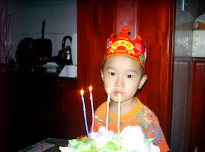 Photo: baby son in his birthday celebration.