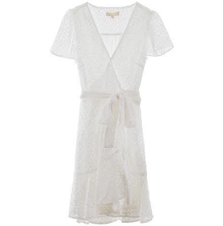 Lace Wrap Dress, white