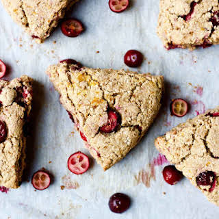 Gluten Free Orange Cranberry Coconut Scones.