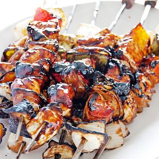 Balsamic BBQ Chicken Skewers