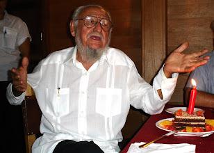 Photo: Ramon Castro, Fidel's older brother, celebrates his birthday. Tracey Eaton photo.
