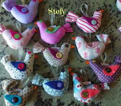 Photo: Uccellini di stoffa