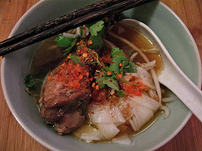 Photo: a finished bowl of anise-cinnamon duck soup noodles