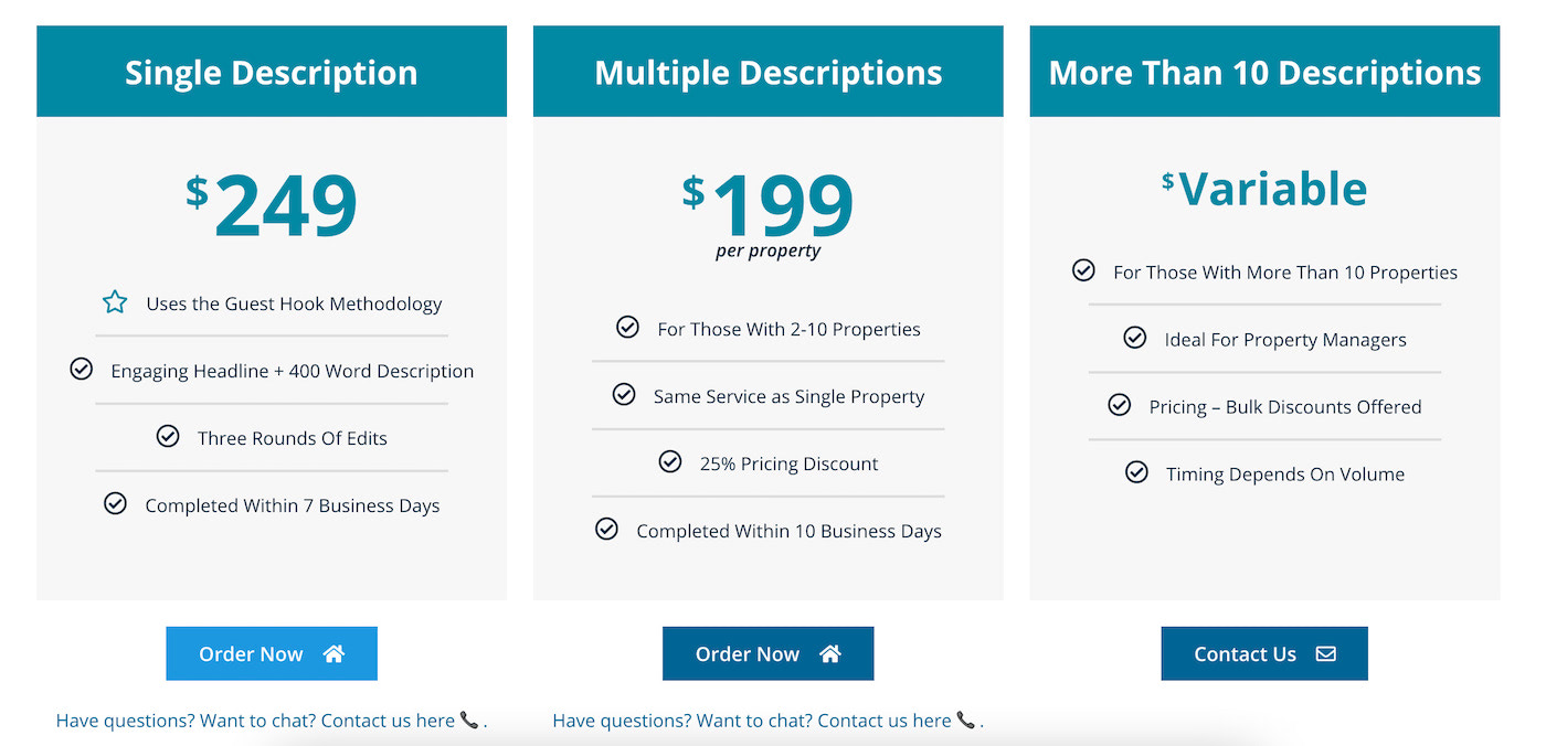 Guest Hook pricing page