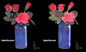 Photo: Roses in a Royal Blue Bottle Vase