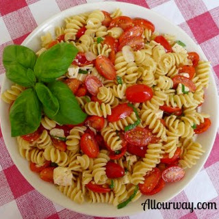 Rotini With Lemon, Grape Tomatoes, Basil and Ricotta Salata