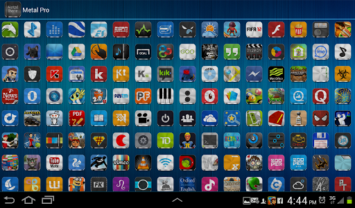 Metal Free(APEX NOVA GO THEME) 1.5.0 screenshots 15