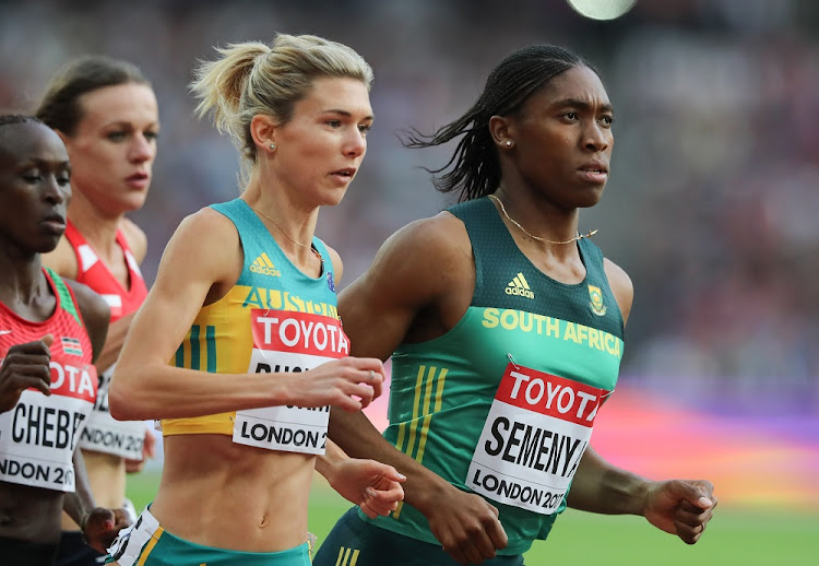 Caster Semenya of South Africa in the heats of the women's 1500m at the 16th IAAF World Athletics Championships 2017, in London, England. Picture: GALLO IMAGES