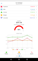 Screenshot of Home Budget with Sync