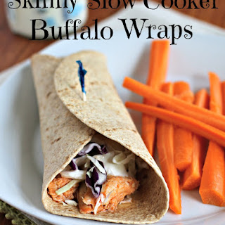 Skinny Buffalo Chicken Wraps.