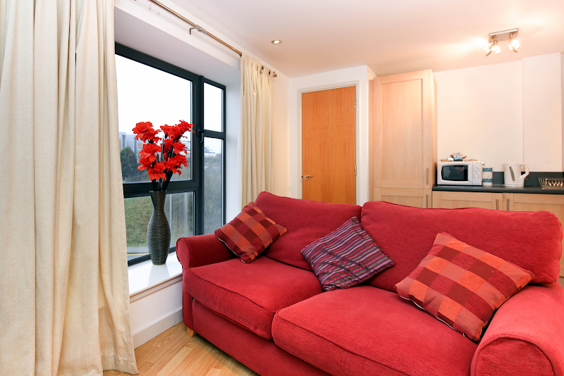 Bright living area at Baltic Quays