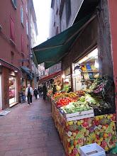 Photo: Morning Market on Via Pescherie Vecchie and Via Drapperie