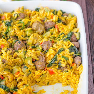 Easy Spinach and Italian Sausage Orzo