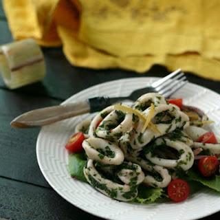 Herbed Calamari Salad with Preserved Lemons