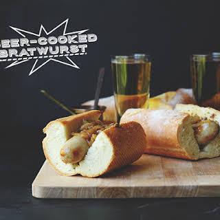 Beer-Cooked Bratwurst.
