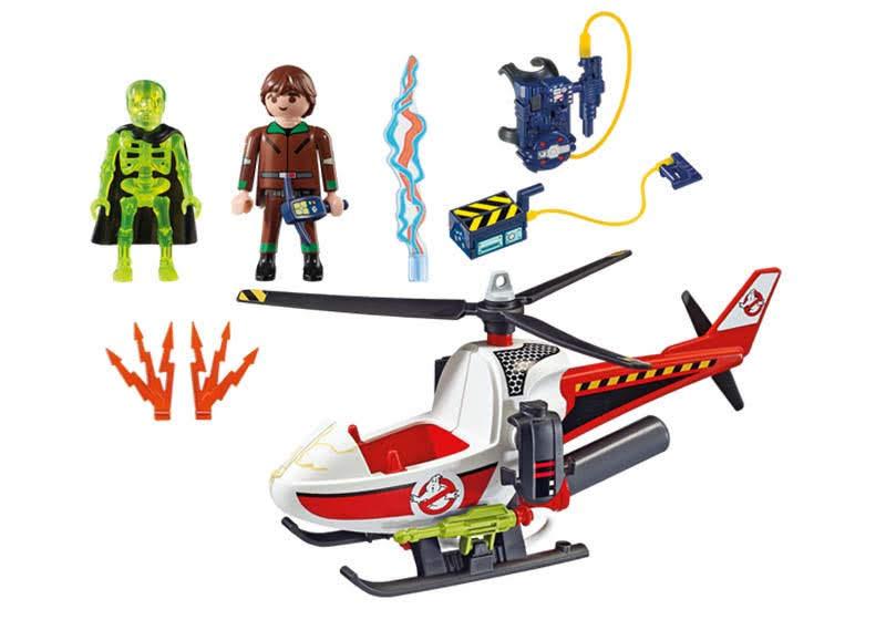 Contenido real de Playmobil® 9385 Vekman con Helicóptero