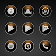 Glossy Brown Icons icon