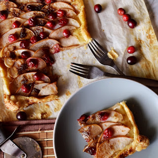 Easy Cranberry and Asian Pear Tart.