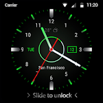 Black clock lock screen for android phone 9.3.0.1950_master
