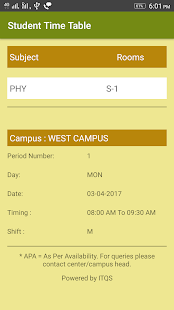 Student Time Table screenshot