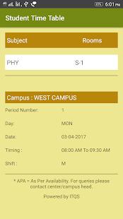 Student Time Table screenshot