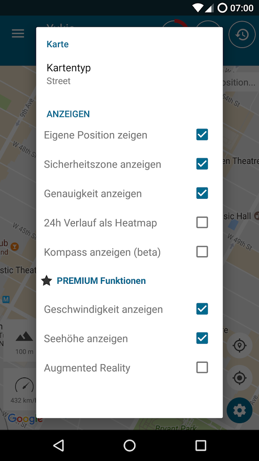 Tractive GPS Tierortung – Screenshot