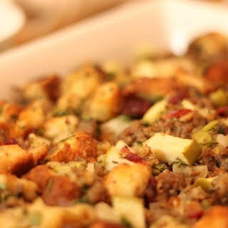 Awesome Sausage, Apple and Cranberry Stuffing.
