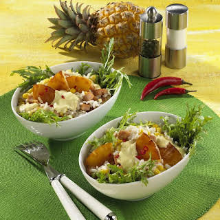Smoked Pork with Pineapple Rice Salad.