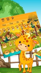 Téma klávesnice Cute Giraffe - náhled
