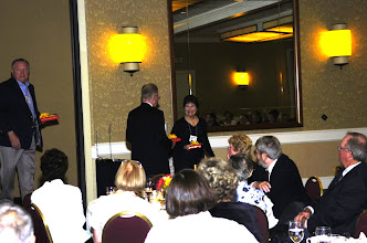 Photo: Barbara Gumz Willis gets award for coming from MN.
