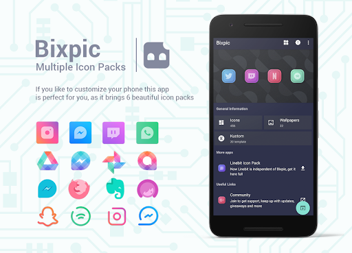 Bixpic Icons (6 Icon Packs included)  screenshots 1
