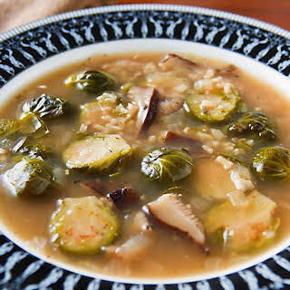 Brussels Sprouts and Shiitake Mushroom Soup.