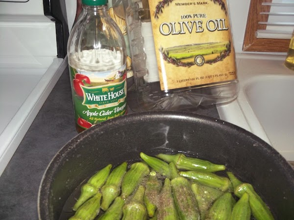 BOILED OKRA:  Wash okra but leave whole with a little stem on end.  Place...