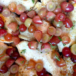 Roasted Chicken with Grapes and Rosemary