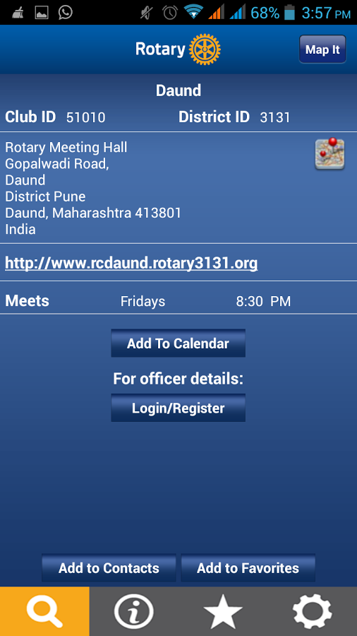 Rotary Club Locator- screenshot