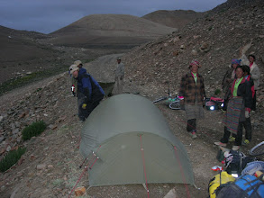 Photo: Camping just below Pang la pass, our highest situated campsite so far at approx 5100m elevation