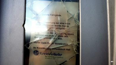 Photo: Bahnhof Schwäbisch Hall / Vielen Dank für Ihr Verständnis